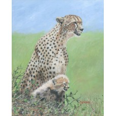 Mother Cheetah with cub