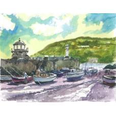 Smeaton's Pier St Ives water colour