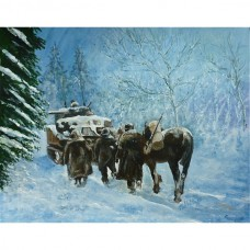 82nd Airborne Division advance winter 1944 Print