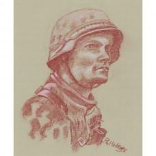 Waffen SS Grenadier Portrait