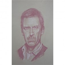 Hugh Laurie as House MD Portrait in pastel