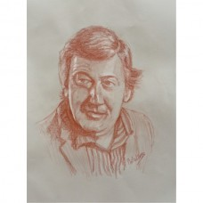 Stephen Fry Portrait in pastel