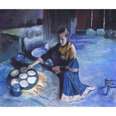 A Kalash Girl cooking